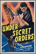 """Movie Posters:War, Under Secret Orders (Guaranteed Pictures, 1943). One Sheet (27"""" X41""""). War.. ..."""