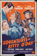 "Movie Posters:Mystery, Adventures of Kitty O'Day (Monogram, 1944). One Sheet (27"" X 41"").Mystery.. ..."