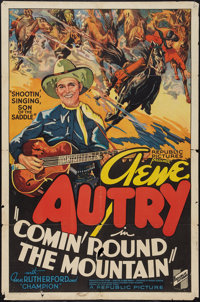 """Comin' Round the Mountain (Republic, 1936). One Sheet (27"""" X 41""""). Western"""