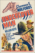 "Movie Posters:Western, Undercover Man (Paramount, 1942). One Sheet (27"" X 41""). Western.. ..."