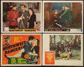 "Movie Posters:Adventure, Northwest Rangers & Others Lot (MGM, 1942). Title Lobby Card& Lobby Cards (3) (11"" X 14""). Adventure.. ... (Total: 4 Items)"
