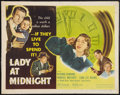 "Movie Posters:Mystery, Lady At Midnight and Other Lot (Eagle Lion, 1948). Half Sheet (22""X 28"") and Cut Down One Sheet (22"" X 28""). Mystery.. ... (Total: 2Items)"