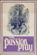 "Movie Posters:Drama, The Passion Play (Edison, R-1930s). One Sheets (2) (28"" X 42"" & 28"" X 31"") & Posters (2) (21"" X 28"" & 21.5"" x 28""). Drama.. ... (Total: 4 Items)"