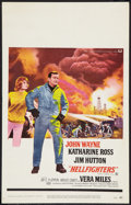 """Movie Posters:Action, Hellfighters (Universal, 1969). Window Card (14"""" X 22""""). Action.. ..."""