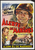 "Movie Posters:War, The Fighting Seabees (Republic, R-1950s). Belgian (13.25"" X 19.5"").War.. ..."