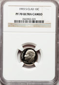 Proof Roosevelt Dimes: , 1993-S 10C Clad PR70 Ultra Cameo NGC. NGC Census: (218). PCGSPopulation (220). Numismedia Wsl. Price for problem free NGC...