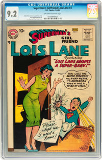 Superman's Girlfriend Lois Lane #3 (DC, 1958) CGC NM- 9.2 Off-white to white pages
