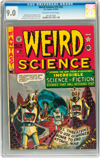 Weird Science #14 (#3) (EC, 1950) CGC VF/NM 9.0 Off-white to white pages