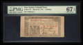 Colonial Notes:New Jersey, New Jersey March 25, 1776 1s PMG Superb Gem Unc 67 EPQ.. ...