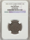 1804 1/2 C Crosslet 4, Stems -- Damaged -- NGC Details. Fine. C-10. NGC Census: (0/0). PCGS Population (8/260). Numismed...