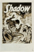 Original Comic Art:Covers, Todd Smith and Tom Yeates Shadow May 15, 1942 CoverRe-Creation Illustration Original Art (undated)....