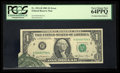 Error Notes:Foldovers, Fr. 1911-H $1 1981 Federal Reserve Note. PCGS Very Choice New64PPQ.. ...