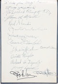 Autographs:Celebrities, [Early Aviation]. Amelia Earhart, Orville Wright, Glenn Martin, et al. Signed International Civil Aeronautics Conference Book....
