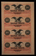 Obsoletes By State:Louisiana, New Orleans, LA- New Orleans Canal & Banking Company $10-$10-$10-$10 G26a-G26a-G26a-G26a Uncut Sheet. ...