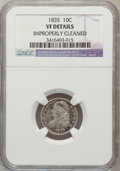 Bust Dimes, 1835 10C -- Improperly Cleaned -- NGC Details. VF. NGC Census:(4/438). PCGS Population (17/490). Mintage: 1,410,000. Numis...