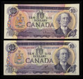 Canadian Currency: , BC-49a $10 1971. BC-49c-i $10 1971. ... (Total: 2 notes)