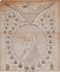 Books:Prints & Leaves, [Declaration of Independence and George Washington, subjects]. [W.H. Pratt, designer]. Declaration of Independence....
