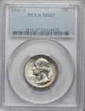 Washington Quarters, 1941-S 25C MS67 PCGS. CAC....