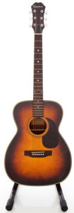 Musical Instruments:Acoustic Guitars, Circa 1970's Epiphone PR-600-ASB Sunburst Acoustic Guitar,#07319....