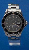 Timepieces:Wristwatch, Rolex Ref. 16610 Steel Submariner Needing Total Clean Up, circa1990. ...