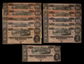 Confederate Notes:1864 Issues, T68 $10 1864 Eleven Examples.. ... (Total: 11 notes)