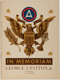 Books:Americana & American History, [George S. Patton]. In Memoriam, George S. Patton, Jr.,General, U.S. Army. Germany,1946. First edition. From ...