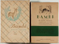 Books:Children's Books, Felix Salten. Bambi. A Life in the Woods. New York:Simon and Schuster, 1928. First American edition, first prin...