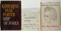 Books:Literature 1900-up, Katherine Anne Porter. Three First Editions with Long Inscriptionsby the Author to Her Literary Agent, including: Ship ... (Total:3 Items)