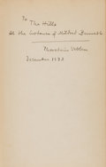Books:Business & Economics, Thorstein Veblen. Absentee Ownership. Two Copies, BothSigned to Mildred Bennett. New York: Huebsch, 1923. F... (Total: 2Items)