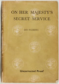 Books:Mystery & Detective Fiction, Ian Fleming. On Her Majesty's Secret Service. London:Jonathan Cape, [1963]. Uncorrected proof of the first edit...