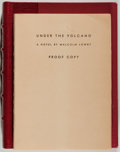 Books:Literature 1900-up, Malcolm Lowry. Under the Volcano. New York: Reynal &Hitchcock, 1947. First edition. H. Bradley Martin copy....