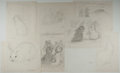 Books:Children's Books, Garth Williams. Original preliminary drawings for illustrations inThe Rabbits' Wedding, 1958. Eight sheets.... (Total: 2Items)