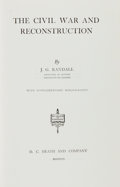 Books:Americana & American History, J. G. Randall. The Civil War and Reconstruction. Boston: D.C. Heath and Co., [1953]. First edition. From the ...