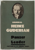 Books:Biography & Memoir, General Heinz Guderian. Panzer Leader. Foreword by CaptainB. H. Liddell Hart. London: Michael Joseph, [1952]. F...