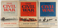 Books:Americana & American History, Shelby Foote. The Civil War: A Narrative. NY: Random House,[1958-1974]. First editions. Three octavo volumes. Fro...(Total: 3 Items)