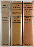 Books:Americana & American History, Douglas Southall Freeman. Lee's Lieutenants.. NY:Scribner's, [1942-1944]. First editions. Signed by the autho...(Total: 3 Items)