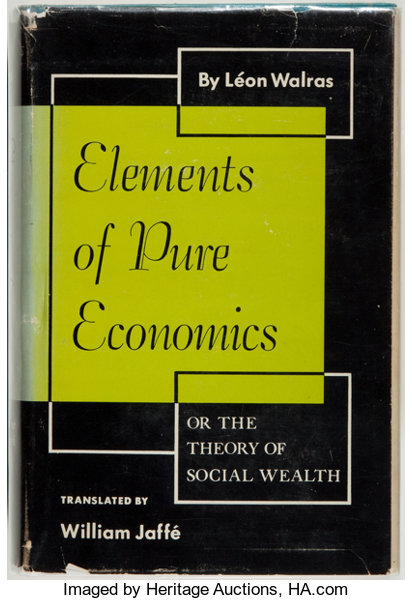BooksBusiness Economics Leon Walras Elements Of Pure Or The Theory