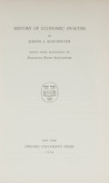 Books:Americana & American History, Joseph A. Schumpeter. History of Economic Analysis. NewYork: Oxford University Press, 1954. First edition. Fr...