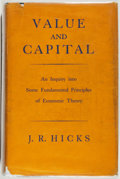 Books:World History, J. R. Hicks. Value and Capital... Oxford: Clarendon Press, 1939. First edition. From the James and Deborah Boyd Co...