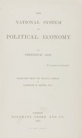 Books:Business & Economics, Friedrich List. The National System of Political Economy.London: Longmans, Green, 1885. First printing. From ...