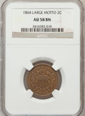 Two Cent Pieces, 1864 2C Large Motto AU58 Brown NGC. NGC Census: (87/1257). PCGSPopulation (141/759). Mintage: 19,847,500. Numismedia Wsl. ...