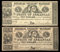 Obsoletes By State:Arkansas, (Little Rock), AR- Arkansas Treasury Warrant $10 Two Examples. ... (Total: 2 notes)