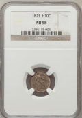 Seated Half Dimes: , 1873 H10C AU58 NGC. NGC Census: (10/88). PCGS Population (13/95). Mintage: 712,000. Numismedia Wsl. Price for problem free ...