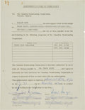 Autographs:Others, 1962 Willie Mays Signed Television Contract....