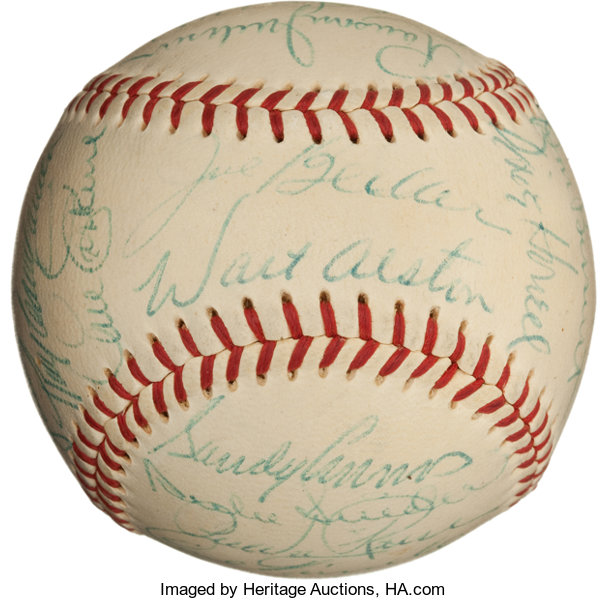 1955 Brooklyn Dodgers Team Signed Baseball (All Clubhouse