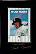 """Baseball Collectibles:Publications, Mickey Mantle Signed """"My Favorite Summer, 1956"""" Hardcover Book. ..."""