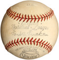 Baseball Collectibles:Balls, Circa 1940's Official Frick National League Baseball....