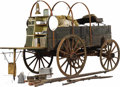Western Expansion:Cowboy, Cowboy Chuck Wagon used on a Western ranch circa 1900's the mostimportant component of a western cattle ranch. Beautiful ch...