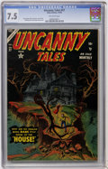 Golden Age (1938-1955):Horror, Uncanny Tales #27 (Atlas, 1954) CGC VF- 7.5 Off-white pages....