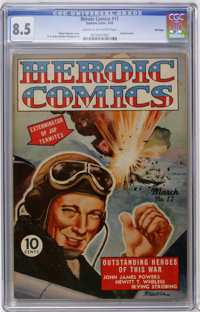 Heroic Comics #17 File Copy (Eastern Color, 1943) CGC VF+ 8.5 Cream to off-white pages